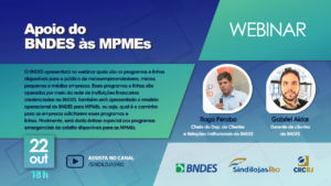 SindilojasRio e BNDES apresentam webinar sobre Crédito