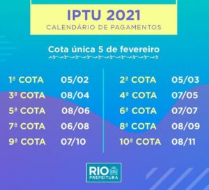 Read more about the article Prefeitura do Rio divulga calendário do IPTU 2021