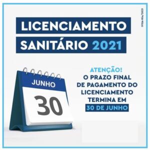 Read more about the article Licenciamento Sanitário 2021