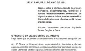 Read more about the article Regras de higienização de carrinhos, cestas e utensílios