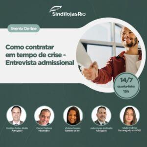 Read more about the article Como contratar em tempos de crise – Entrevista admissional