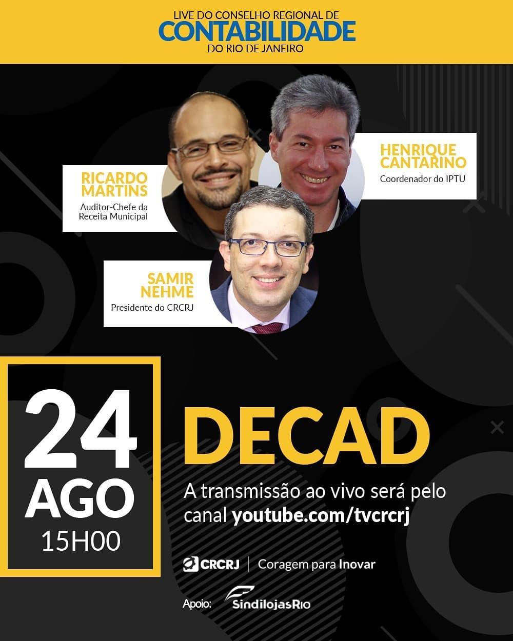 Read more about the article Live sobre a DeCAD – Declaração Anual de Dados Cadastrais
